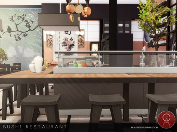 The Sims Resource: Sushi Restaurant by Pralinesims