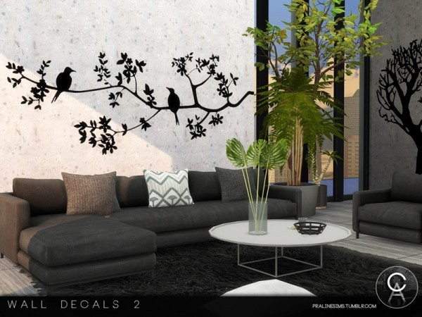 The Sims Resource: Wall Decals 2 by Pralinesims • Sims 4 ...