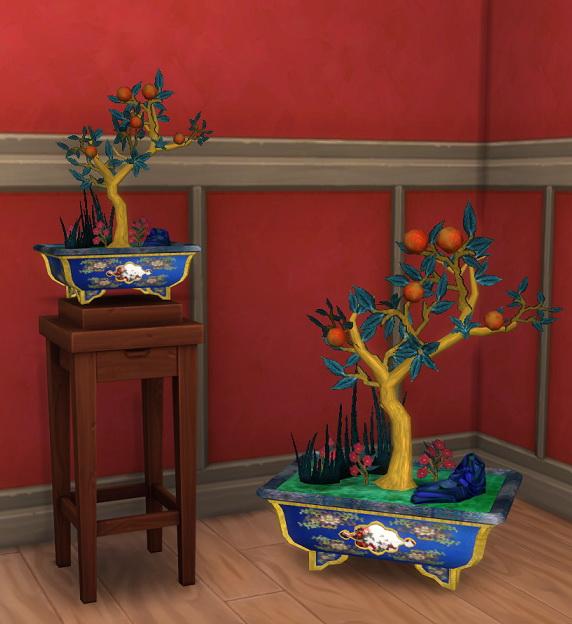 Simsworkshop: Enamel Bonsai by BigUglyHag