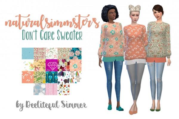 Deelitefulsimmer: Don`t care sweater recolor
