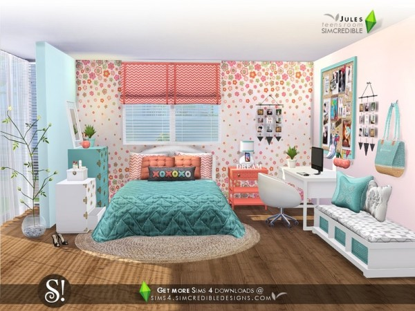 The sims resource jules bedroom by simcredible sims 4 for Room decor sims 4