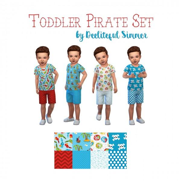 Deelitefulsimmer: Toddler Pirate set