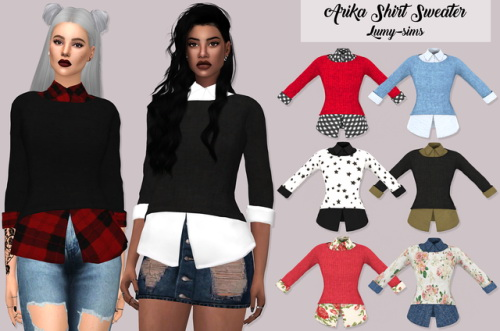 LumySims: Arika Shirt Sweater