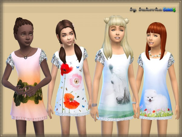 The Sims Resource: Dress Animal Print by bukovka