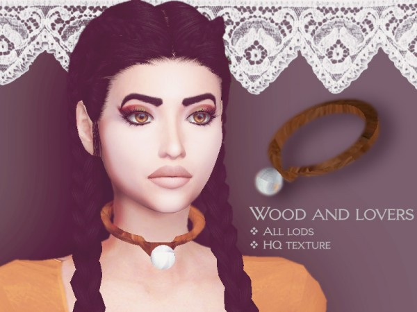 The Sims Resource: Wood and Lovers  choker by Sharareh