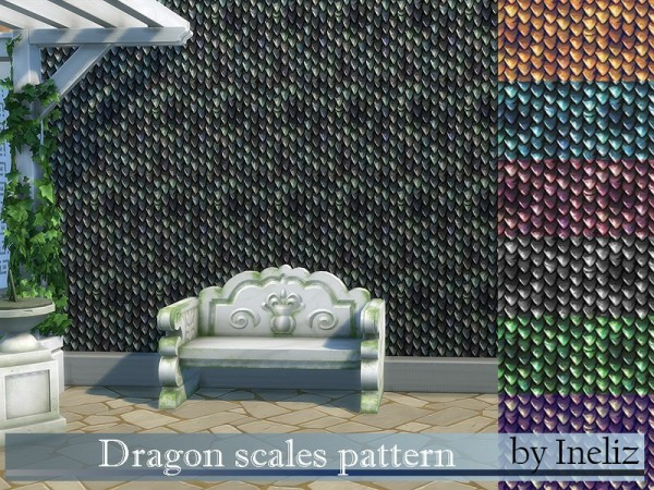 The Sims Resource: Dragon scales pattern by Ineliz