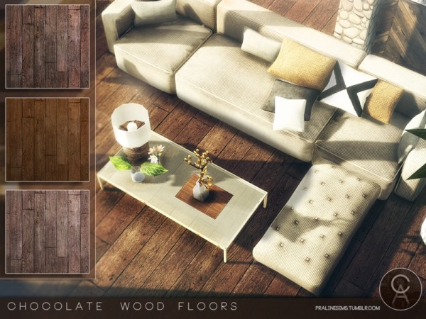 The Sims Resource: Chocolate Wood Floors by Pralinesims