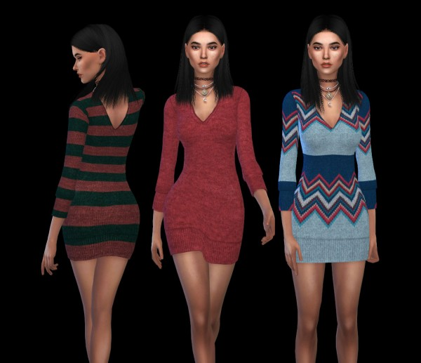 Leo 4 Sims: VN sweater dress recolor