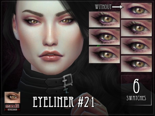 The Sims Resource: Eyeliner 21 by Remus Sirion
