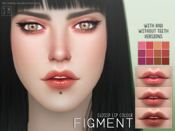 The Sims Resource: Figment   Glossy Lip Colour by Screaming Mustard