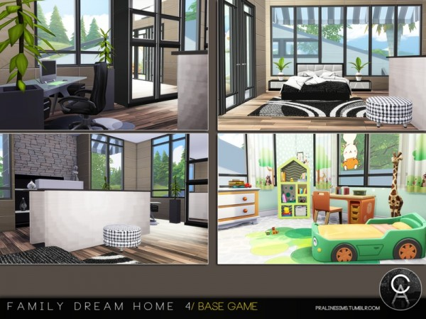 The Sims Resource Family Dream Home 4 By Pralinesims