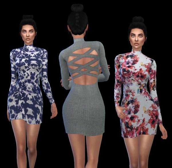 Leo 4 Sims: Cutaway dress