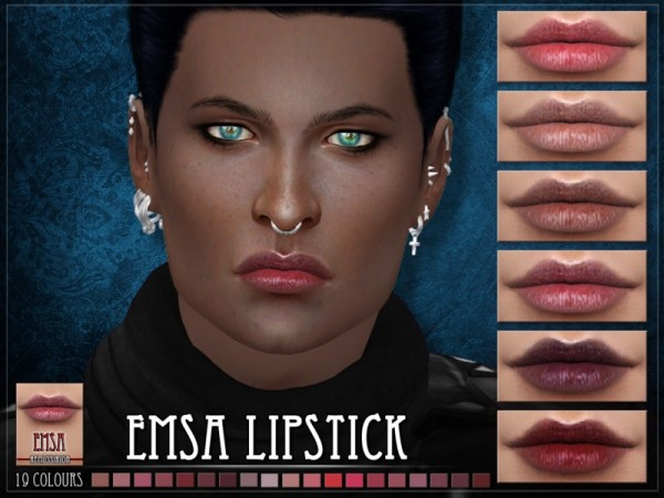 The Sims Resource: EMSA Lipstick by RemusSirion