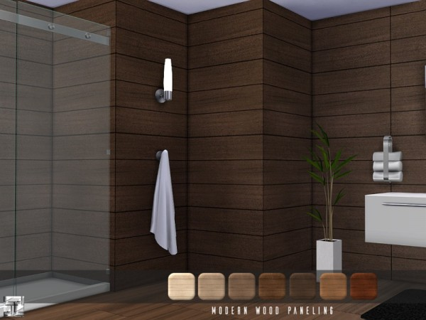 The Sims Resource: Modern Wood Paneling by .Torque