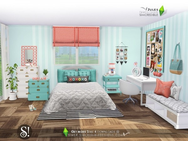 The Sims Resource: Jules bedroom by SIMcredible • Sims 4