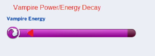 Mod The Sims: Vampire Power/Energy Decay by Tremerion
