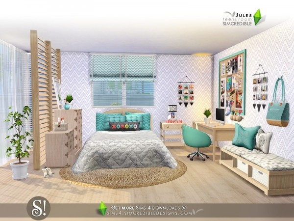 The Sims Resource Jules Bedroom By Simcredible Sims 4