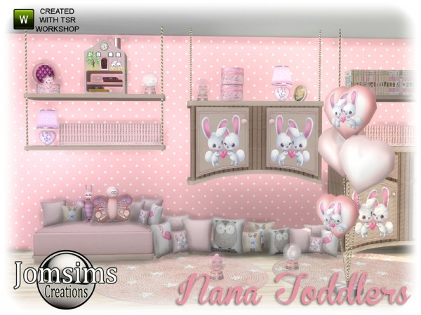 The Sims Resource: Nana toddlers deco set by jomsims