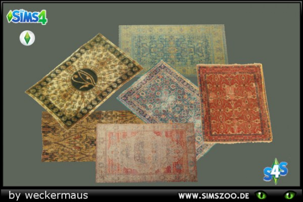 Blackys Sims 4 Zoo: Egyptian Rugs by weckermaus