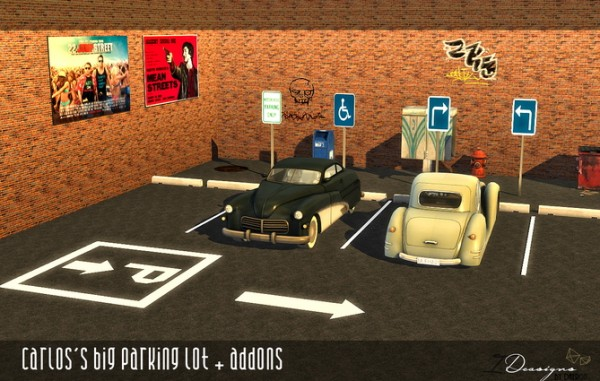 Sims 4 Designs Carlos S Big Parking Lot Sims 4 Downloads