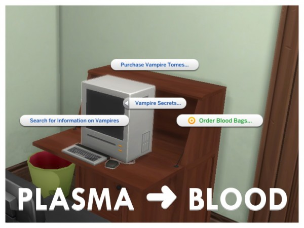 Mod The Sims: Drink Blood, Not Plasma! by Letisiya