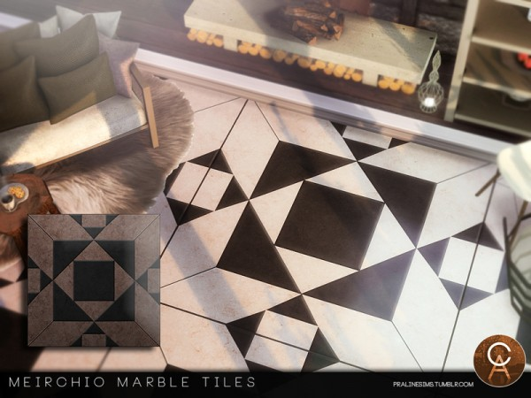 The Sims Resource: Meirchio Tiles by Pralinesims