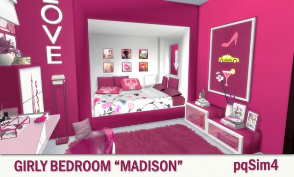 Pqsims4 Girly Bedroom Madison Sims 4 Downloads