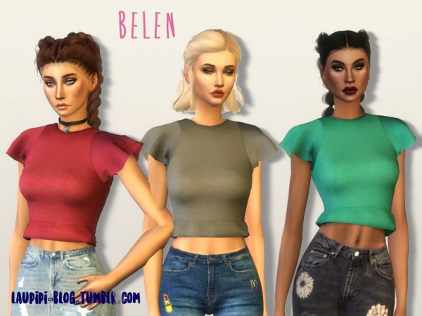 The Sims Resource: Belen top by laupipi