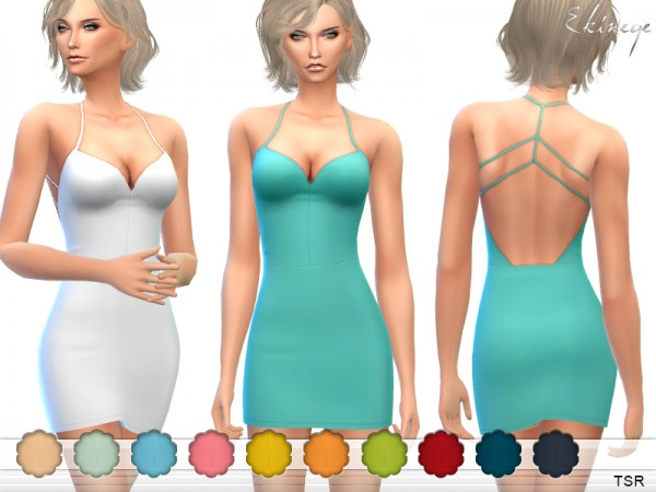 The Sims Resource: Strappy Back Mini Dress by ekinege
