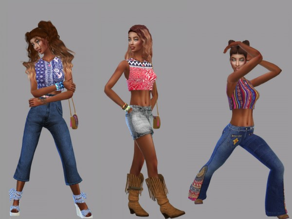 The Sims Resource: Boho Blouse by Teenageeaglerunner