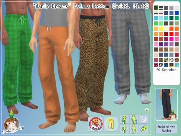 Simsworkshop: Manly Dreams sleepwear pack 1.2 by Standardheld