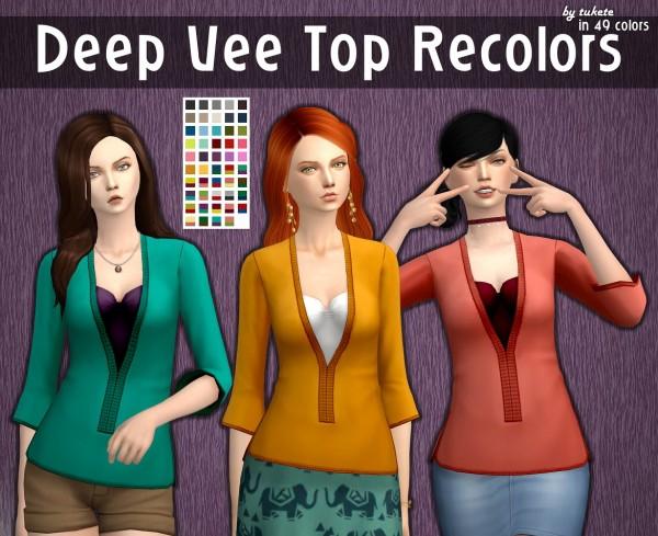 Tukete: Deep Vee Top Recolors