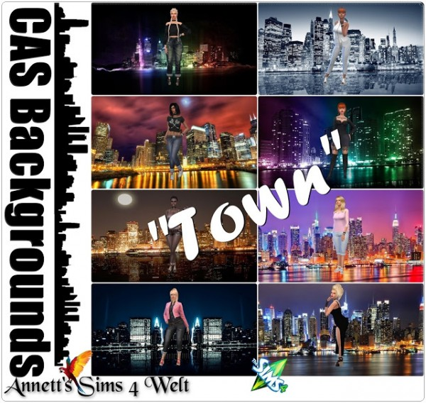 Annett`s Sims 4 Welt: CAS Backgrounds Town