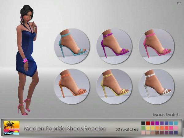 Elfdor: Madlen`s Fabrizio Shoe Recolor   Maxis Match