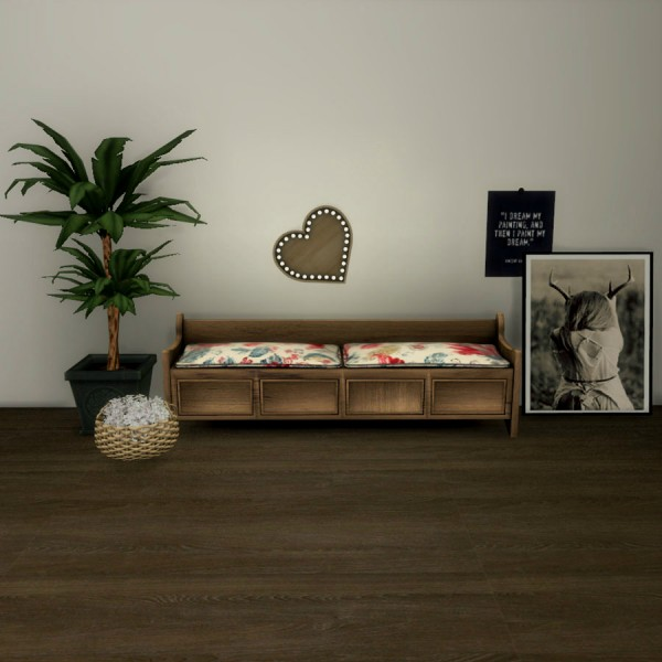 Leo 4 Sims: Storage Bench and Heart Lamp
