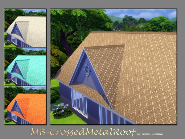 The Sims Resource: Crossed Metal Roof by matomibotaki