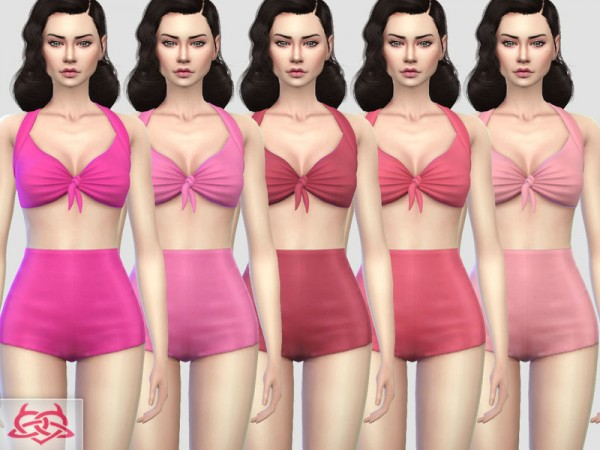 The Sims Resource: Pin up Swimwear 1 recolor by Colores Urbanos