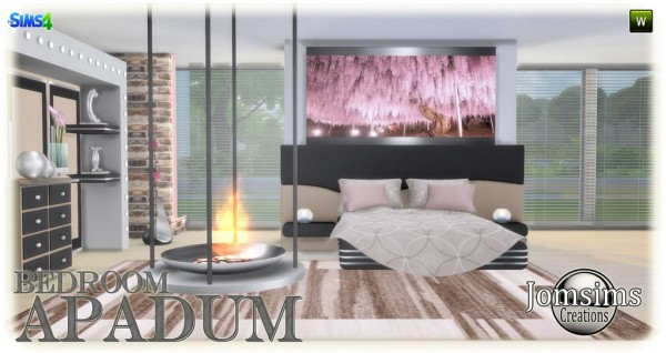Jom Sims Creations: Apadum bedroom