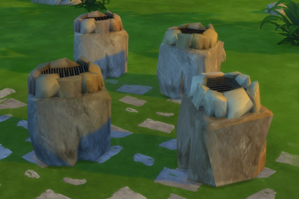 Blackys Sims 4 Zoo: Grill stones by mammut