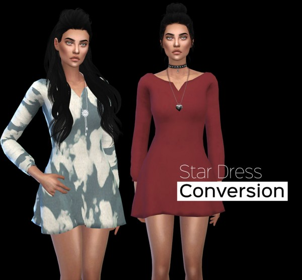 Leo 4 Sims: Star dress recolor