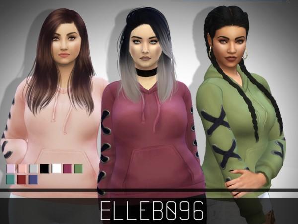 The Sims Resource: Corset Sleeve Hoodie by Elleb096