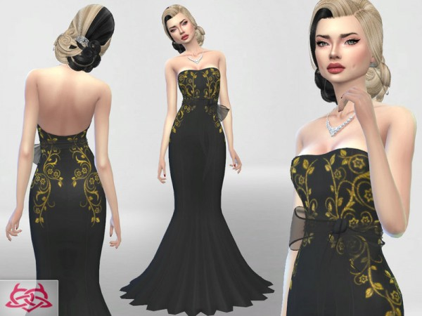 The Sims Resource: Wedding Dress 4 recolor 1 by Colores Urbanos