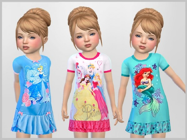 The Sims Resource: Toddler Princess Nighties by ...