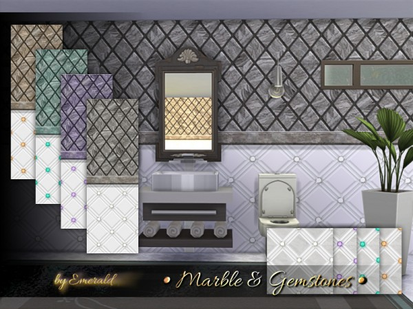 The Sims Resource: Marble and Gemstones by emerald