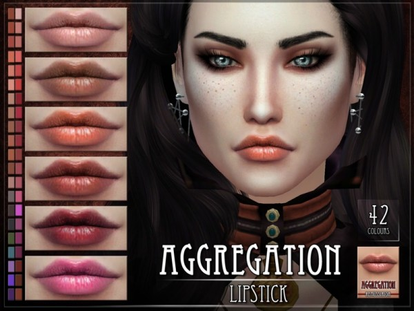 The Sims Resource: Aggregation Lipstick by RemusSirion