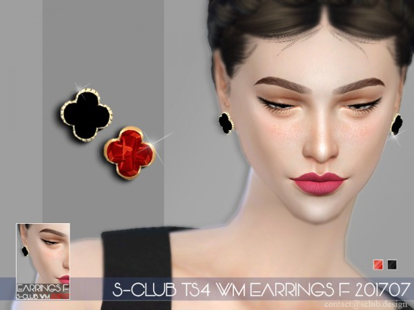 The Sims Resource: Earrings F 201707 by S club