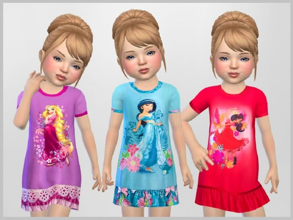 The Sims Resource: Toddler Princess Nighties by SweetDreamsZzzzz