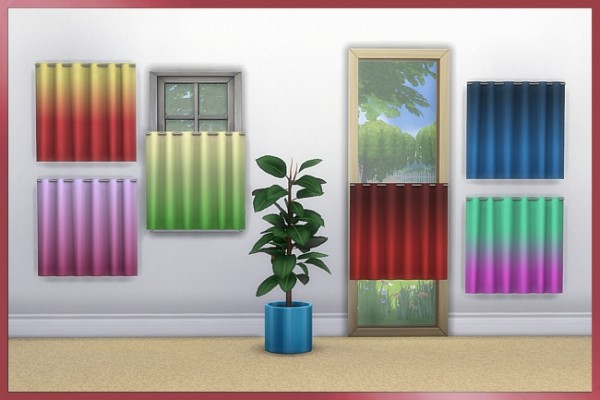 Blackys Sims 4 Zoo: Mesh Gardine Melodie by Cappu
