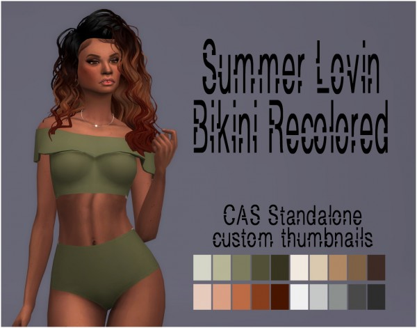 Simsworkshop: Summer Lovin Bikini Recolored by Sympxls