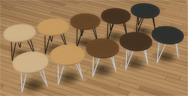Veranka: Wire Round End Table